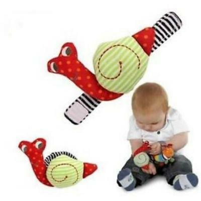 Cute Animal Infant Baby Kids Hand Wrist Bell Foot Sock Rattles Soft Toy SG