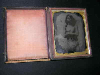 1/4 Plate Original Ambrotype of Young Indian