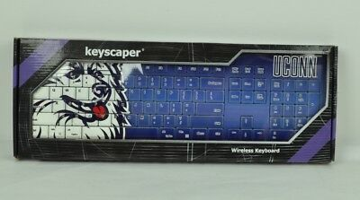 NCAA Uconn Huskies Teclado Inalámbrico Azul USB Pc Equipo Divertida Decoración