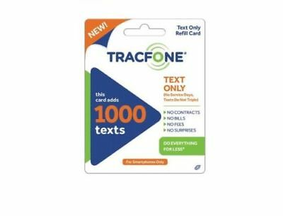 TRACFONE 1000 TEXT ONLY Refill Card for Smartphones Only  - Ebay Email Delivery