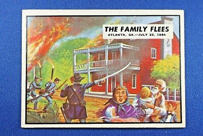 "1962 Topps Civil War News - #75 ""The Family Flees"" - Excellent Condition"