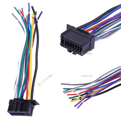 pioneer wiring harness car stereo 16 pin wire connector 2 39 rh picclick com