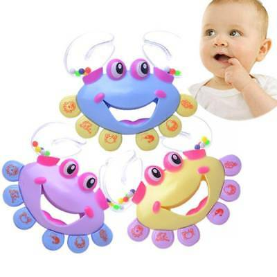1pc Kids Toy Baby Crab Design Handbell Musical Instrument Jingle Shaking Rattle