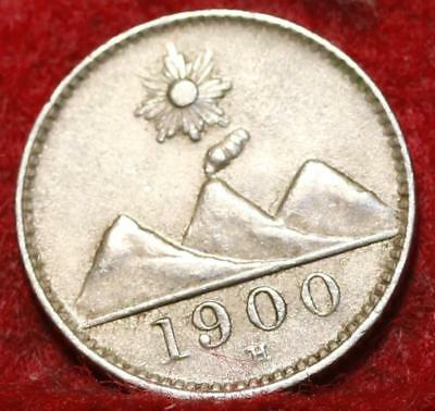 1900-H Guatemala 1/4 Silver Real Foreign Coin