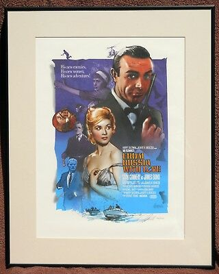 From Russia With Love - Framed Print - James Bond 007 - Sean Connery