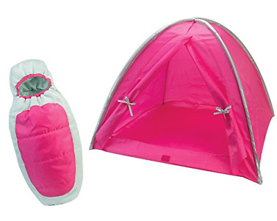 Sophia's Hot Pink Camp Set for 18 inch Dolls, Includes Hot Pink Camping Tent and