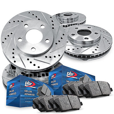 For 2006-2011 Buick Lucerne PBR AXXIS Drill/Slot Brake Rotors+Ceramic Brake Pads