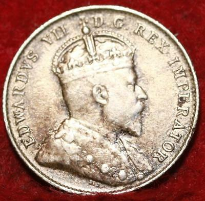 1903 Canada 10 Cents Silver Foreign Coin