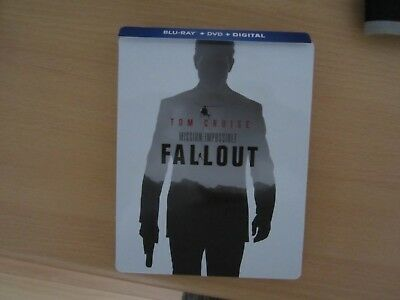 Mission: Impossible - Fallout (Blu-Ray, DVD, Digital HD) Steelbook Edition