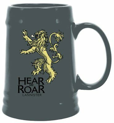 Game of Thrones Lannister Sigil Stein Ceramic Beer HBO George RR Martin New Mint