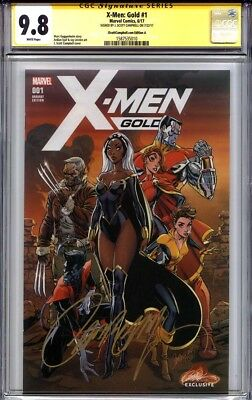 X-MEN GOLD #1 CGC 9.8 SS J. SCOTT CAMPBELL Exclusive (Variant cover A)