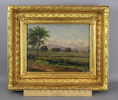 19thc Antique Attributed BENJAMIN CHAMPNEY New Hampshire Landscape Oil Painting