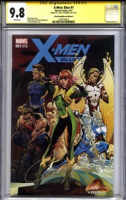 X-MEN BLUE #1 CGC 9.8 SS J. SCOTT CAMPBELL Exclusive (Variant cover A)