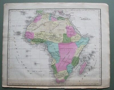 Scarce Original 1835 Smith's Map of Africa