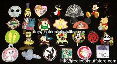 50 Random Disney Pins - No Duplicates - Trade or Keep - FREE US Ship - G