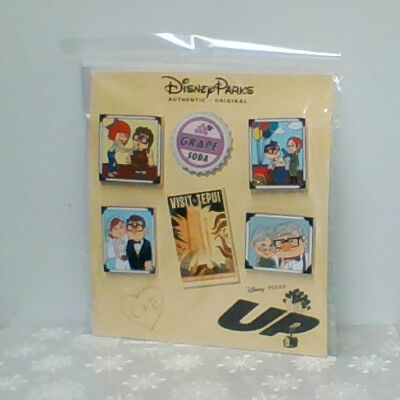 Disney Pixar Up Carl and Ellie Thru the Years Pin Booster Set NEW on card