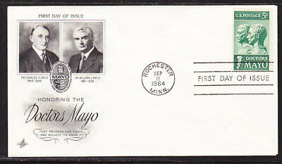 "USA ""Artcraft"" 1964 - Doctors Mayo First Day Cover"