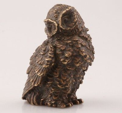China Rare Bronze Unique Hand Carving Bird Animal Statue Old Antique Collection