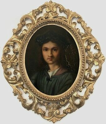 Portrait Old Master Oil Painting after Andrea del Sarto (Italian, 1486–1530)