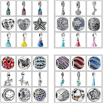 925 European Sterling Fashion Silver Charms Bead for Bracelet Chain Necklace