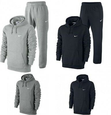 Nike Mens Full Tracksuit Fleece or Hoody or Pants - S M L XL navy, grey or Black