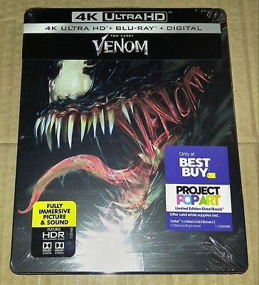 New Venom 4K UHD + Blu-ray/Digital Steelbook™ Bestbuy Exclusive