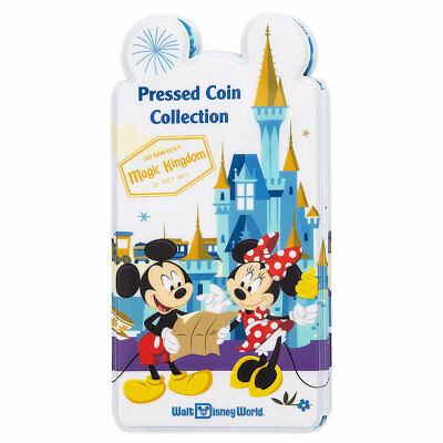Walt Disney World Four Parks Pressed Penny Book Coin Holder Collection Album