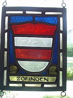 vitrail blason ZOFINGEN suisse swiss stained glass switzerland