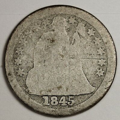 1845-o Liberty Seated Dime.  Circulated.  132591