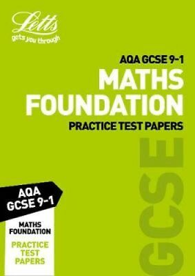 AQA GCSE 9-1 Maths Foundation Practice Test Papers by Collins 9780008276133