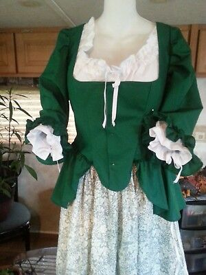 18th Century Historical Reproduction Polonaise  short Gown size 42 Bust