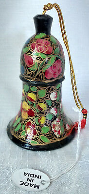 """Wood Hand Painted Rose Floral Decorative Made in India 3.5"""" Dinner School Prayer"""
