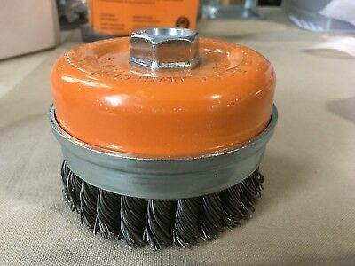 Walter Surface Technologies 13G514 Knot Twisted Cup Brush with Ring Threaded