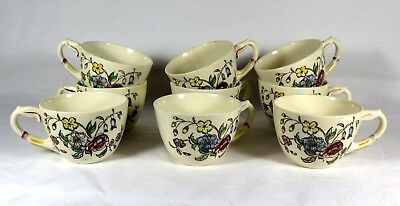"""VERNON KILNS """"May Flower"""" Pattern - Nine Coffee Cups (No Saucers)"""