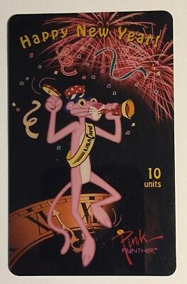 "Pink Panther ""Happy New Year"" USA collectible phone card"