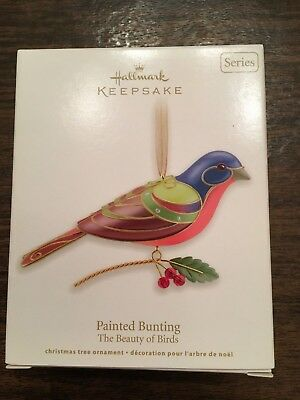 HALLMARK Keepsake Painted Bunting Christmas Ornament 2012 Beauty of Birds NEW