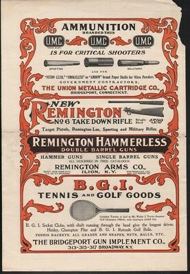 1901 Remington Umc Hunt Tennis Golf Sport Gun Outdoor Game Pistol Hf-0232