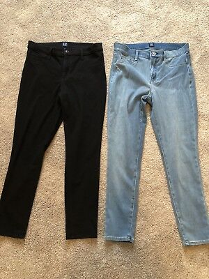 GAP SOFT WEAR Mid Rise Knit Favorite Jeggings Size 30 Lot Of 2 ... 43db469a84