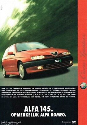 1997 Alfa Romeo 145 (Dutch, 1pg.) Advertisement (AAE.230)