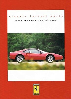 2002 Ferrari 308 Owners Classic Parts (English, 1pg.) Advertisement (AAE.240)