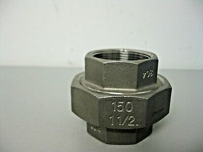 """Pipe Union 1 1/2"""" 150# NPT 304 Stainless Steel Pipe Fitting"""