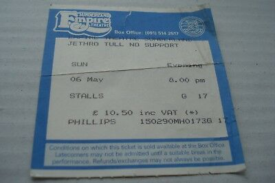 Jethro Tull  Concert Tour Ticket Sunderland Empire Theatre 6th May 1990