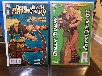 Green Arrow and Black Canary #1 & #5 VF-NM