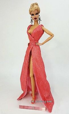 Pink Dress Outfit Clothes Gown Fits Barbie Silkstone Fashion Royalty Candi FR