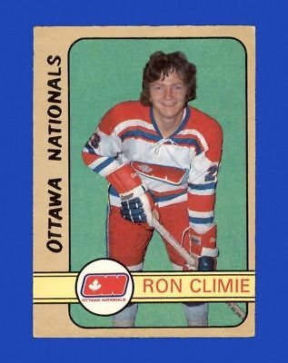 72-73 O-Pee-Chee #318 RON CLIMIE EXMINT ROOKIE RC (OTTAWA NATIONALS) HIGH NUMBER