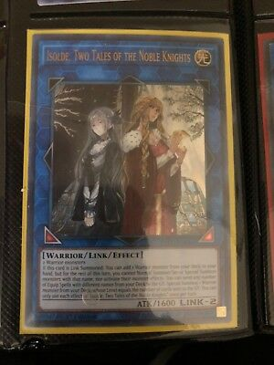 Isolde, Two Tales of the Noble Knights NM 1st Ed YuGiOh EXFO 094 Card Ultra Rare