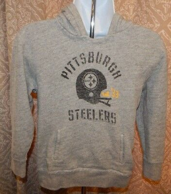 Junk Food GAP PITTSBURGH STEELERS Gray LS Hoodie Sweatshirt Youth Size 6/7