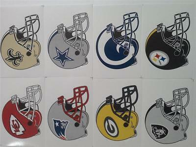 "2  Nfl Team Helmet Stickers  2 1/2"" X 3 1/2"" ~ Choose Your Team"