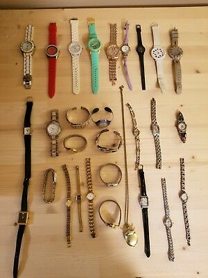 Large Lot of 30 Womans Wrist Watches (Seiko, Citizen, Timex, and More) (Repair)