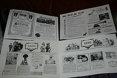 Lot Of 5 Victrola Reproduction Ads: Edison, Sonora, Brunswick, Graphophones Etc.